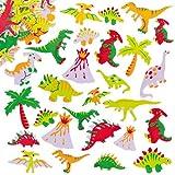 Moosgummi Aufkleber Dinosaurier für Kinder zum Verzieren von Karten und Bastelprojekten (102 Stück)
