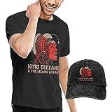 Camicia da Uomo King Gizzard And Lizard Wizard T Shirt Men Cotton Short Sleeve Tees And Denim Baseball Dad Hat cap Funny Tops