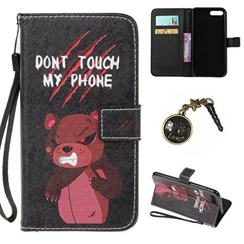 iPhone 7 Plus Hülle,iPhone 7 Plus case vintage ledertasche, Handy Schutzhülle für Apple iphone 7 Plus (5.5 Zoll) Hülle Leder Wallet Tasche Flip Brieftasche Etui Schale (+Staubstecker) (4) 2