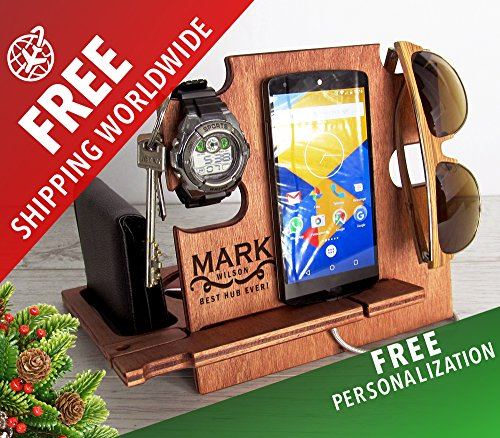 Preisvergleich Produktbild Weihnachtsgeschenk für Mann, Docking Station, Geschenk für Männer, Weihnachtsgeschenk für Freund, Weihnachtsgeschenk für Freund, Weihnachtsgeschenk für Ehemann, Ladestation, iPhone Zubehör, Android Zu