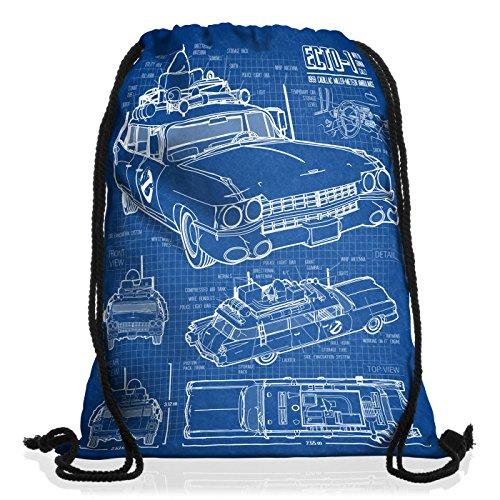 style3 ECTO-1 SOS Borsa da spalla sacco sacchetto drawstring bag gymsac