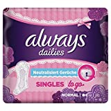 Always Singles To Go Slipeinlagen, 10er Pack (10 x 20 Stück)