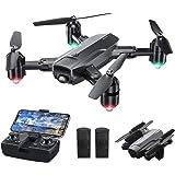 Dragon Touch Drone Plegable con Cámara 1080P HD Avión con WiFi FPV Control Remoto RC Quadcopter Drone para Adultos Niños Prin