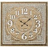 Reloj de pared clásico marrón de madera para decoración France - Lola Derek