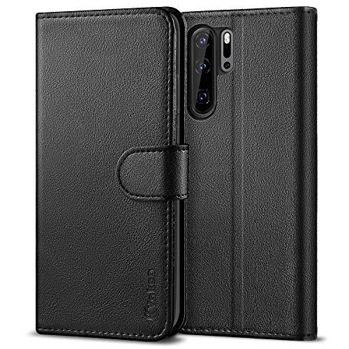 Vakoo [PU-Leder SchutzhülleKompatibelmit Huawei P30 Pro Hülle, Brieftasche Handyhülle für Huawei P30 Pro (6,47 Zoll)-Schwarz