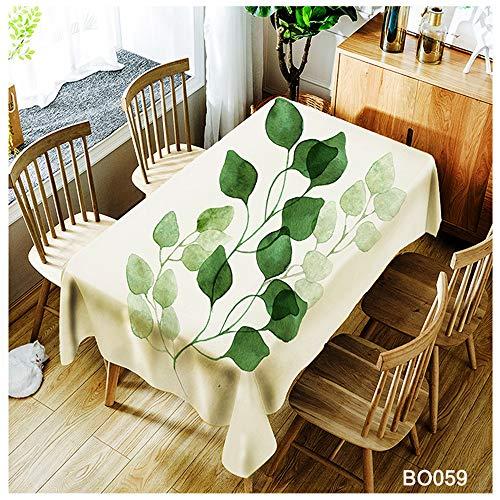QWEASDZX Mantel Tejido de poliéster Protección del Medio Ambiente A Prueba de Aceite Antifouling Mantel Rectangular Adecuado para Interiores y Exteriores Mantel Multiuso 150x260cm