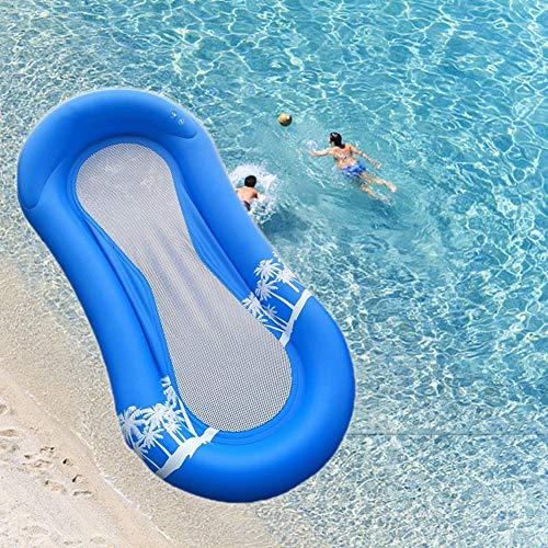 Queta amaca d'acqua gonfiabile, materassino gonfiabile ad acqua, poltrona lounge materassino portatili pieghevoli in pvc (170 x 80cm)