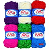 M.G Enterprise Mix Knitting Yarn Wool, Crochet Yarn Thread And Art & Craft