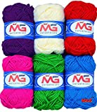 #10: M.G combo mix knitting yarn wool, crochet yarn thread and Art & Craft. Best used with knitting needles, crochet needles. Wool yarn for knitting.