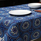 ZB Azul mantel de los patrones geométricos Sureste del estilo asiático Table Cloth Coffee Table Cloth Restaurant ( Tamaño : 120x120cm )
