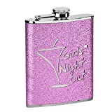 Excellent Quality Hip Flask 8oz Stainless Steel Hip Flask (Pink Girls Night Out)