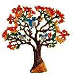 #6: Pindia Metal Hand Carved Multicolor Tree Wall Hanging Home Office Décor Gift