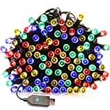 Christmas String Lights(8 Operation Modes),USB 72.2ft 200LED Wire lights, Waterproof Rope Lights, Fairy Twinkle Decorative Lights for Chirstmas Tree,Garden,Patio and Home(Multi color)
