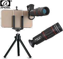 ElephantBoat APEXEL APL - T18ZJ 18X Optical Zoom Telephoto Telescope Lens Camera with Phone Holder Clip Tripod