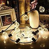 Guirnalda Bombillas Cadena de Luces NuoYo Guirnalda de Luces Interior con 12 Bombillas Claras Decoración para Navidad, Fiestas, Fodas, Jardines, Festivales