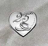 DLM24316 Calamite a cuore per 25° anniversario di matrimonio (24 pezzi) bomboniera