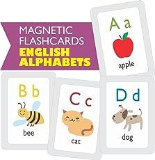 MFM Toys English Alphabets Flashcards (Magnetic Flash Cards)