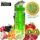 #6: FRUIT INFUSER WATER BOTTLE, FLAVOURED WATER BOTTLE, FRUIT INFUSER FLAVOURED WATER MAKER BOTTLE (COLOR MAY VARY) 700 ML SPORTS WATER BOTTLE FOR PLAYERS. by VISHAL INDIA MART