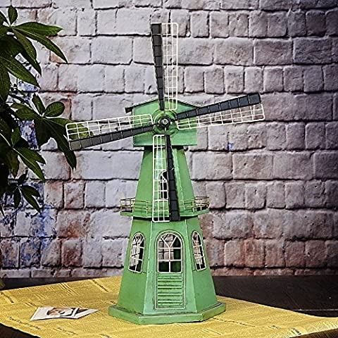 COLLECTOR-COLLECTOR-COLLECTOR-Wrought iron handicrafts retro windmills in antique shop Windows European arts and crafts decorative ornaments 34*5*15*45.5cm