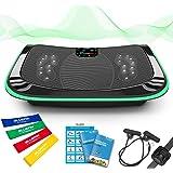 4D Vibrationsplatte – Leistungsstark mit 3 leisen Motoren | Leicht zu Bedienen | Magnetfeldtherapie Massage | Ultra…
