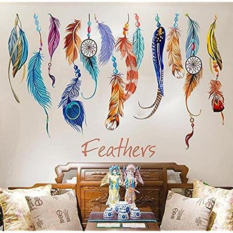 ✽Internet✽ Pintura creativa clásica del art déco de la etiqueta engomada de la pared de la pluma del colector