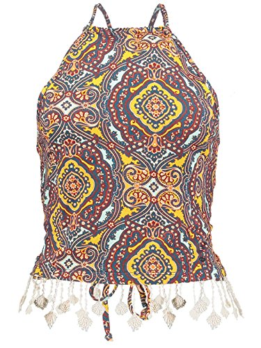 Damen Top O'Neill Paisley Tank Top yellow aop
