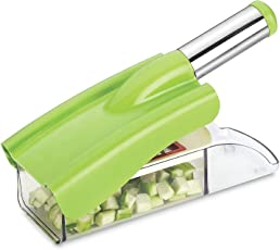 Ritu Stainless Steel 12 in 1 Chipser Slicer, Green and White