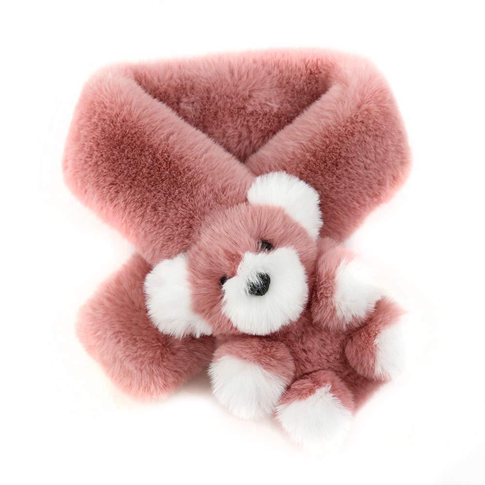 Wildlead Beb/é Ni/ño Invierno Orejeras de Punto Beanie Cap Bufanda Conjunto Ni/ños Sombrero de Oso de Dibujos Animados