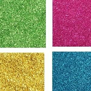 Vardhman Fine Glitter Powder 8 No, 70 GMS Each Pkt, Multicolored Set of 4