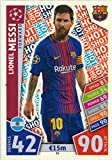Match Attax Champions League 17/18 Lionel Messi Hot Shot Trading Card - FC Barcelona 17/18