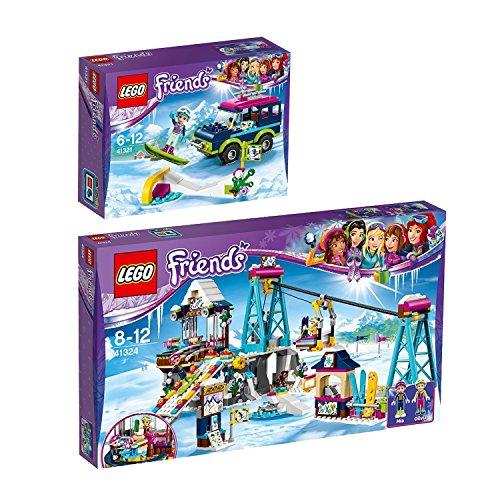 Preisvergleich Produktbild Lego Friends 2er Set 41321 41324 Gelandewagen im Wintersportort + Skilift im Wintersportort