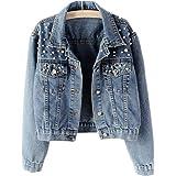 Fesky - Giacca da donna in jeans Ex Boyfriend Baggy Trucker Denim Jacket