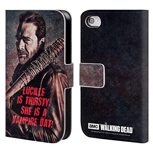 Officiel AMC The Walking Dead Eeny Miney Coloré Negan Étui Coque De Livre En Cuir Pour Apple iPhone 5c Lucille Vampire Chauve-Souris