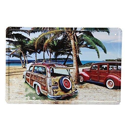 Bazaar Beach Auto Blechschild Vintage Metall Schild Poster Bar Home Wand-Decor