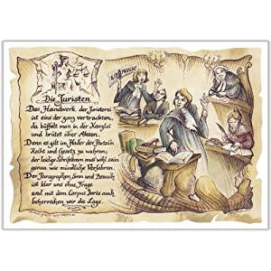 Die Staffelei Geschenk Juristen Jurist Richter Präsent Zeichnung Color 20 x 15 cm