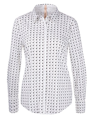 Marc Cain Additions, Blouse Femme Weiß (Shell 161)