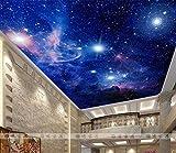 KUKI Blauer Himmel und weiße Schlafzimmer Wohnzimmer Decke Decke Tapete Hotel Restaurant 3D Wallpaper große Wandbilder Decke , C