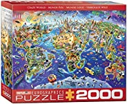 EuroGraphics (EURHR Crazy World 2000Piece Puzzle 2000Piece Jigsaw Puzzle