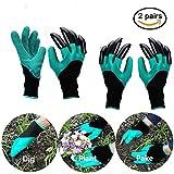 BUWANT Wasserdicht Gartenhandschuhe langlebig stichsichere Safe Gartenarbeit Handschuhe mit ABS-Kunststoff krallen für Haushalt und Garten Werkzeug handschuhe (2 Paar)