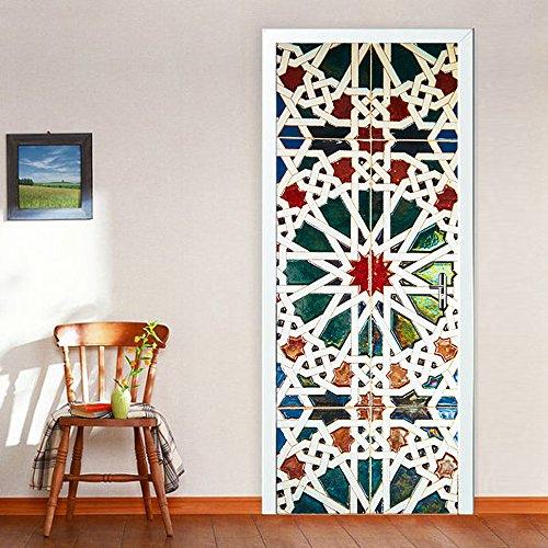 Wallflexi - Adhesivo Decorativo para Pared de Cristal, diseño de murales, para Sala de Estar, guardería, Restaurante, Hotel, café, Oficina, decoración, extraíble, Autoadhesivo
