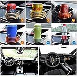 Langdy Aluminum Alloy Adjustable Car Holder, Outlet Cup Holder Car Outlet Drink Rack, Drinks Holder for Air Cooler/Litre Cans/Coffee Cups/Vacuum Flasks (Silver)