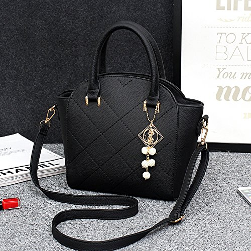 HQYSS Borse donna Dolce coreana stereotipi PU Leather Shell forma signora tracolla Messenger Handbag , days blue black