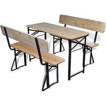 biergartengarnitur bierzeltgarnitur balkoni mit r ckenlehnen breite 110cm garten. Black Bedroom Furniture Sets. Home Design Ideas