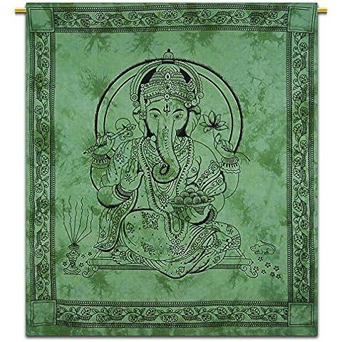 Lord Ganesha Wall Hanging indiano Cotone Tapestry