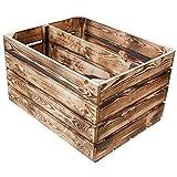 Massive-NEUE-geflammte-Kiste-als-Schuh-und-Bcherregal-Obstkiste-mit-Zwischenbrett-von-Kontorei
