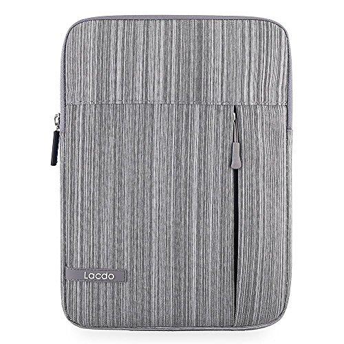 lacdo-Wasserdicht Stoßfest Neopren Sleeve Schutzhülle aus PU-Tasche für Apple iPad Mini 2, iPad Mini 3, 20,1cm mit Retina Display grau