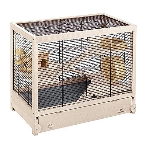 Cage Rongeur Bois - Ferplast Hamsterville Cage pour Petit Animal Noir