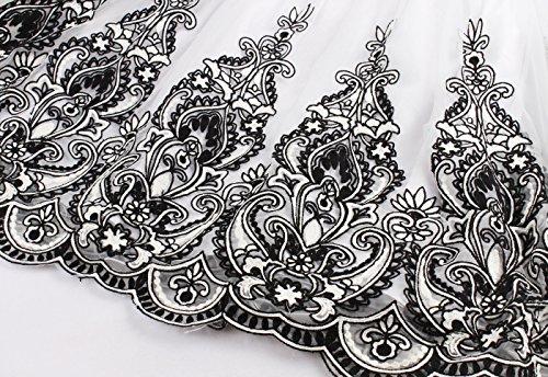 VERNASSA Femmes Robes De Soirée Courte Robes De Bal En Dentelle, Filles Des Années 50 Rétro De Bal De Bal De Promo Robe De Demoiselle D'Honneur, Multicolore, S-XXXXL B1501-Noir