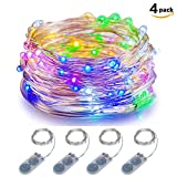 LED Fairy Lights Battery Operated ITART Starry Multi Color String Lights Silver Wire 20LEDs / 2M for Christmas Bedroom Wedding Party Decorations Lights