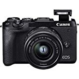 Canon EOS M6 Mark II - Svart + EF-M 15-45mm IS STM + Elektronisk sökare EVF-DC2
